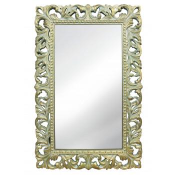 Зеркало настенное в раме «Отталиа» Олива/золото/патина