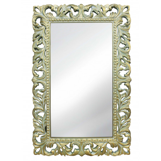 Зеркало настенное в раме «Отталиа» Олива/золото/патина в интернет-магазине ROSESTAR фото