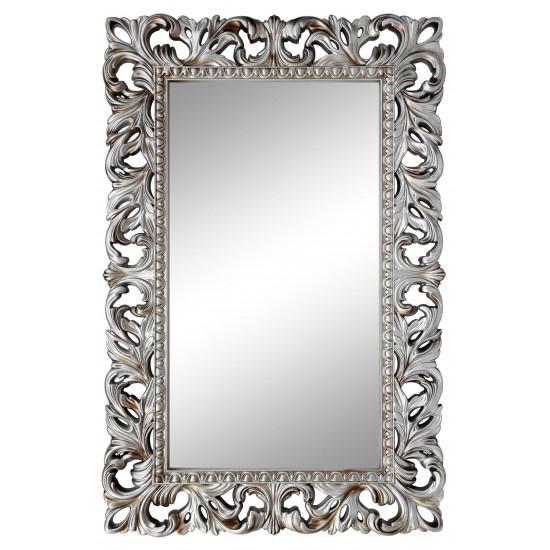 Зеркало настенное в серебряной раме «Отталиа» Серебро/патина в интернет-магазине ROSESTAR фото
