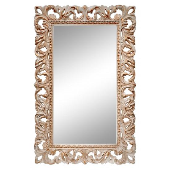 Зеркало настенное раме «Отталиа» Слоновая кость/патина/золото в интернет-магазине ROSESTAR фото