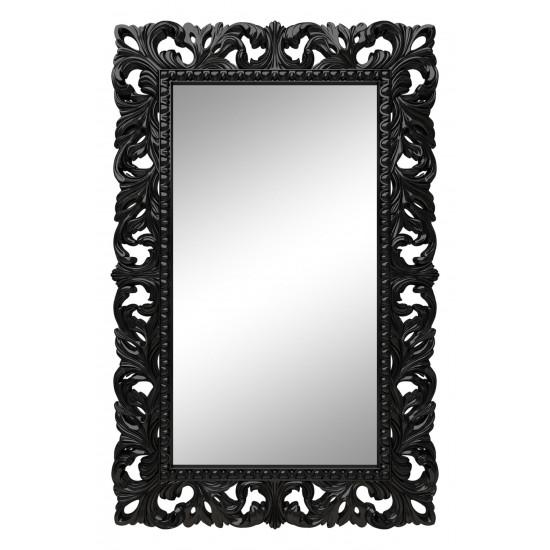 Зеркало настенное в чёрной раме «Отталиа» Чёрный глянец в интернет-магазине ROSESTAR фото