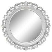 Круглое настенное зеркало в белой раме «Фроуд» Белый глянец