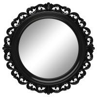 Круглое настенное зеркало в чёрной раме «Фроуд» Чёрный глянец