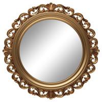 Круглое настенное зеркало в золотой раме «Фроуд» Золото