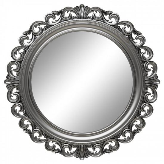 Круглое настенное зеркало в серебряной раме «Фроуд» Серебро в интернет-магазине ROSESTAR фото