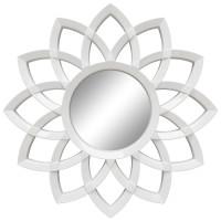 Зеркало солнце с лучами «Кристер» Белый глянец