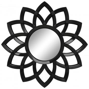 Зеркало солнце настенное с лучами «Кристер» Чёрный глянец
