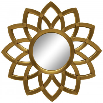 Зеркало солнце с лучами «Кристер» Золото