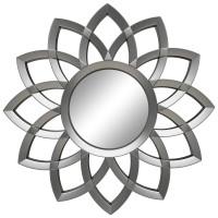 Зеркало солнце с лучами «Кристер» Серебро