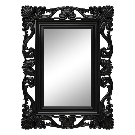 Зеркало настенное в чёрной раме «Дэгни» Чёрный глянец в интернет-магазине ROSESTAR фото