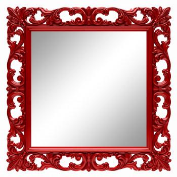 Зеркало квадратное настенное в красной раме «Стейн» Красное