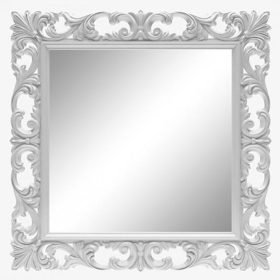 Зеркало квадратное настенное в белой раме «Стейн» Белый глянец в интернет-магазине ROSESTAR фото