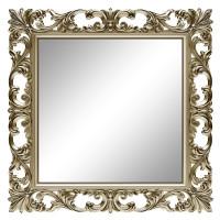 Зеркало квадратное настенное в раме «Стейн» Шампань