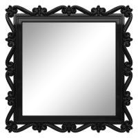 Зеркало квадратное настенное в чёрной раме «Мэрит» Чёрный глянец