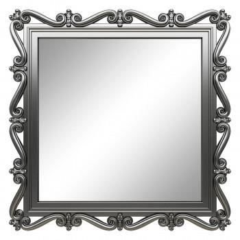 Зеркало квадратное настенное в серебряной раме «Мэрит» Серебро хром