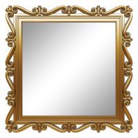Зеркало квадратное настенное в золотой раме «Мэрит» Золото королевское