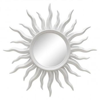 Зеркало солнце настенное «Руна» лучи цвета Белый глянец