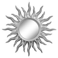 Зеркало солнце настенное «Руна» лучи цвета Серебро хром