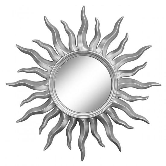 Зеркало солнце настенное «Руна» лучи цвета Серебро хром в интернет-магазине ROSESTAR фото