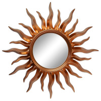 Зеркало солнце «Руна» лучи цвета Медь