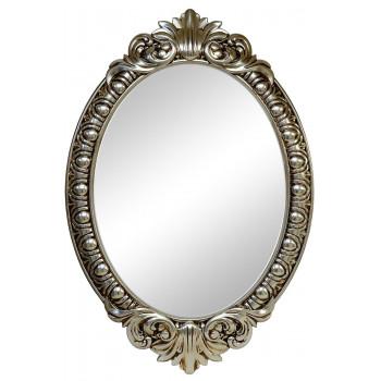 Овальное настенное зеркало в раме «Эджил» Поталь шампань/патина