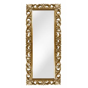 Зеркало напольное большое в золотой раме «Вегард» Золото/патина