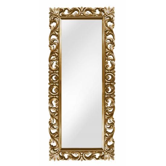 Зеркало напольное большое в золотой раме «Вегард» Золото/патина в интернет-магазине ROSESTAR фото
