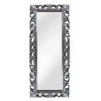 Зеркало напольное большое в серебряной раме «Вегард» Серебро/патина