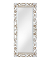 Зеркало напольное большое в раме «Вегард» Слоновая кость/патина/золото