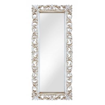 Зеркало напольное и настенное большое в полный рост в раме «Вегард» Слоновая кость/патина/золото
