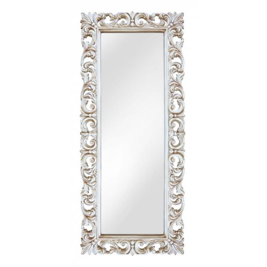 Зеркало напольное и настенное большое в полный рост в раме «Вегард» Слоновая кость/патина/золото в интернет-магазине ROSESTAR фото