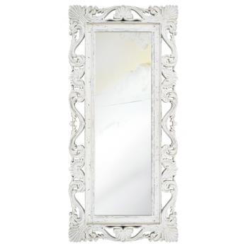 Зеркало напольное и настенное большое в полный рост в белой раме «Дэгни» Белый/шебби шик