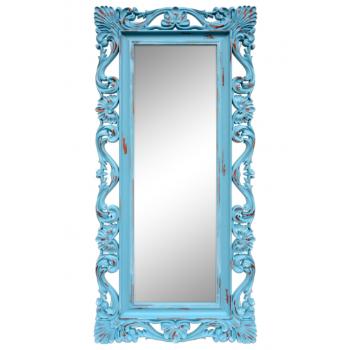 Зеркало напольное большое в голубой раме «Дэгни» Голубой/охра/шебби шик