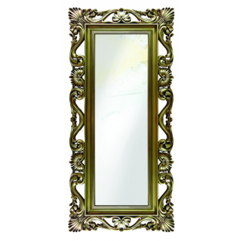 Зеркало напольное и настенное большое в полный рост в раме «Дэгни» Золото/патина