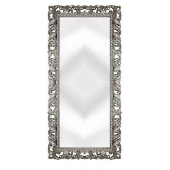 Зеркало напольное и настенное большое в полный рост в серебряной раме «Отталиа» Серебро/патина