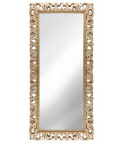 Зеркало напольное и настенное большое в полный рост в раме «Отталиа» Слоновая кость/золото/патина