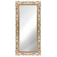 Зеркало напольное большое в раме «Отталиа» Слоновая кость/золото/патина