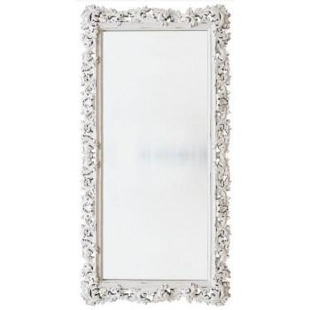 Зеркало напольное и настенное большое в полный рост в белой раме «Фрея» Белый/шебби шик