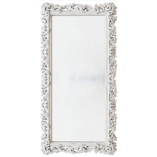 Зеркало напольное и настенное большое в полный рост в белой раме «Фрея» Белый/шебби шик в интернет-магазине ROSESTAR фото
