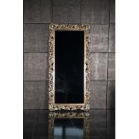 Зеркало напольное большое в золотой раме «Фрея» Бордо/золото/поталь
