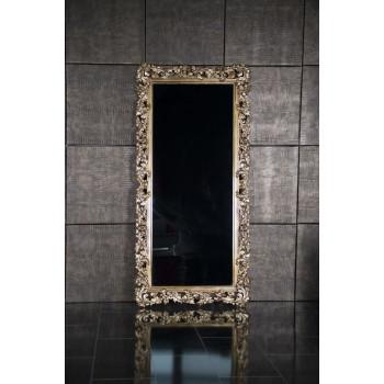 Зеркало напольное и настенное большое в полный рост в золотой раме «Фрея» Бордо/золото/поталь