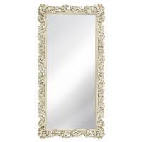 Зеркало напольное большое раме «Фрея» Слоновая кость/шебби шик/патина/золото