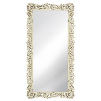 Зеркало напольное и настенное большое в полный рост в раме «Фрея» Слоновая кость/шебби шик/патина/золото