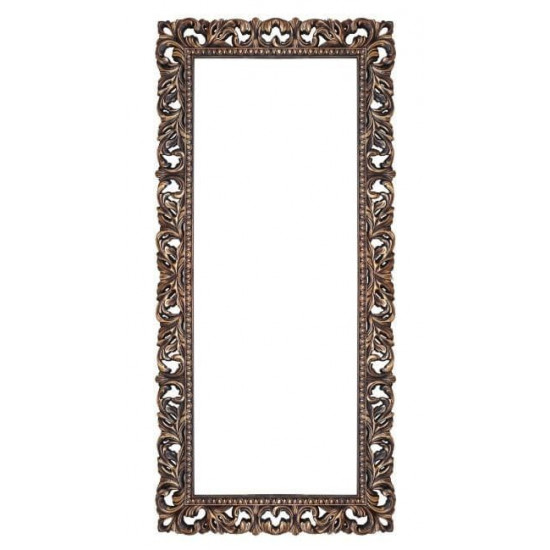 Зеркало напольное и настенное большое в полный рост в раме «Отталиа» Венге/золото в интернет-магазине ROSESTAR фото