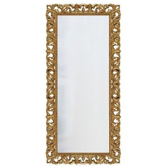 Зеркало напольное большое в раме «Отталиа» Золото/патина в интернет-магазине ROSESTAR фото