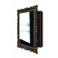 Зеркальный шкаф в ванную навесной «Лива» Венге/золото