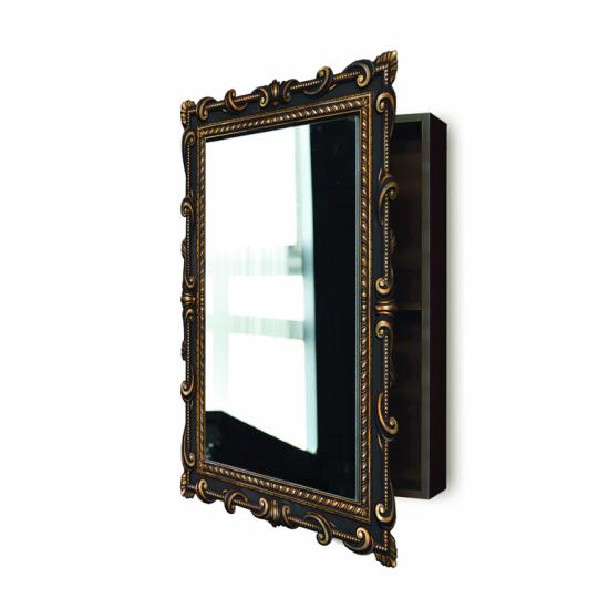 Зеркальный шкаф навесной «Лива» Венге/золото в интернет-магазине ROSESTAR фото