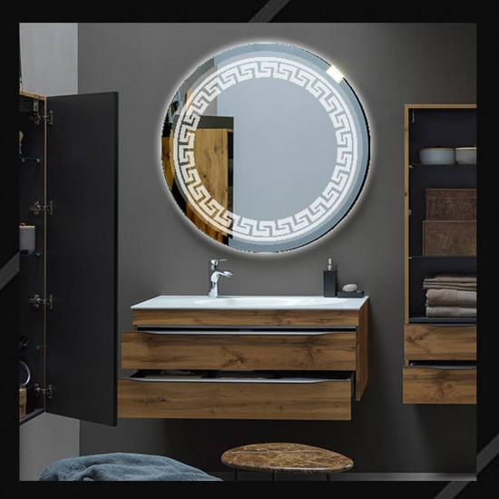 Круглое зеркало с LED подсветкой Meander (Меандр) в интернет-магазине ROSESTAR фото