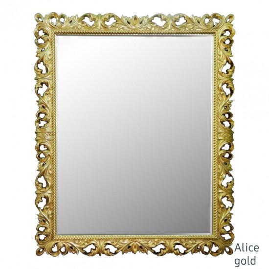 Зеркало настенное в золотой раме Alice Gold в интернет-магазине ROSESTAR фото