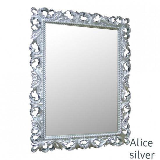 Зеркало настенное в серебряной раме Alice Silver в интернет-магазине ROSESTAR фото